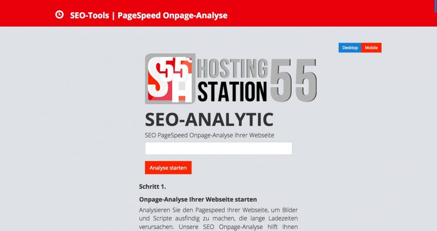 SEO-ANALYTIC – SEO PageSpeed Onpage-Analyse Ihrer Webseite